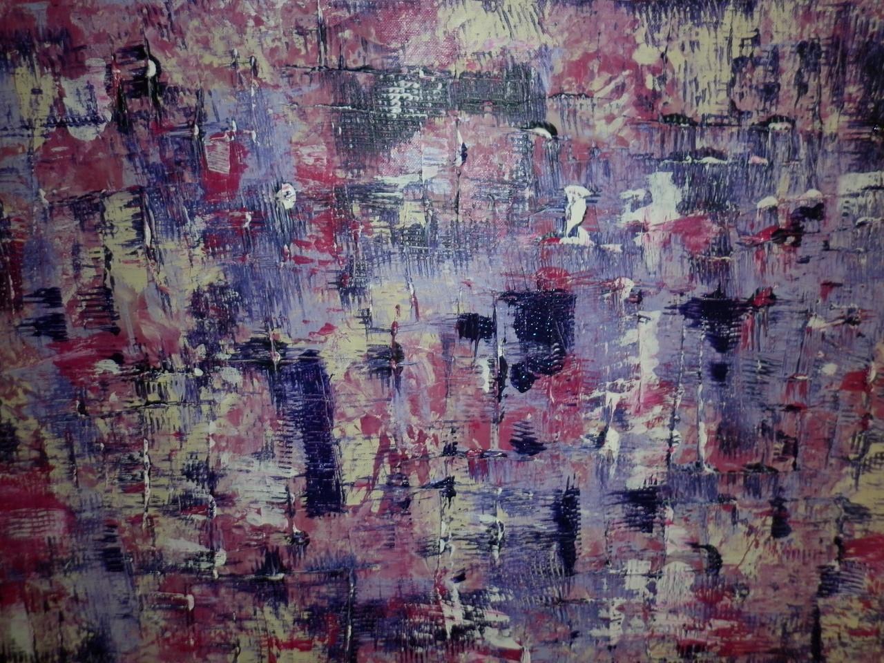 Bild-Nr. 157 o. T.  © Maß  50 x 70  m. Rahmen Acryl/Leinwand auf Keilrahmen