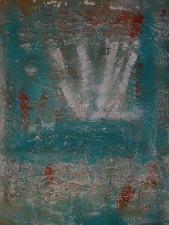 Bild Nr. 214 Titel Die Hand © Maß 50 x 70 Acryl/Leinwand auf Keilrahmen