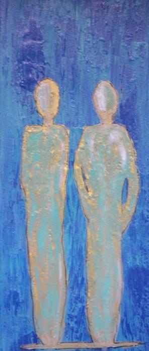 Nr. 210 De Zwei I © Maß 30 x 90 Acryl/Leinwand auf Keilrahmen