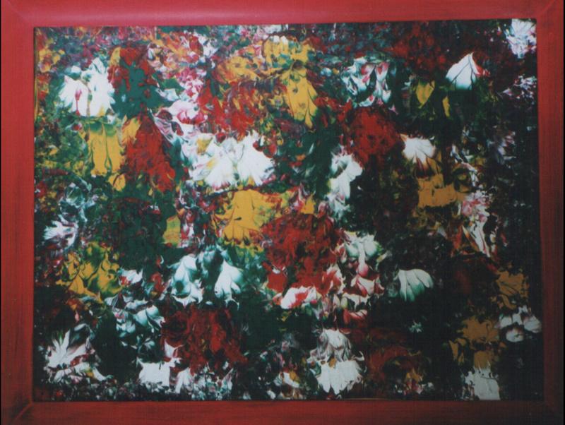 Bild-Nr. 106  Chrysanthemen ©  Maß 60 x 80 m. R. Acryl/Leinwand auf Keilrahmen