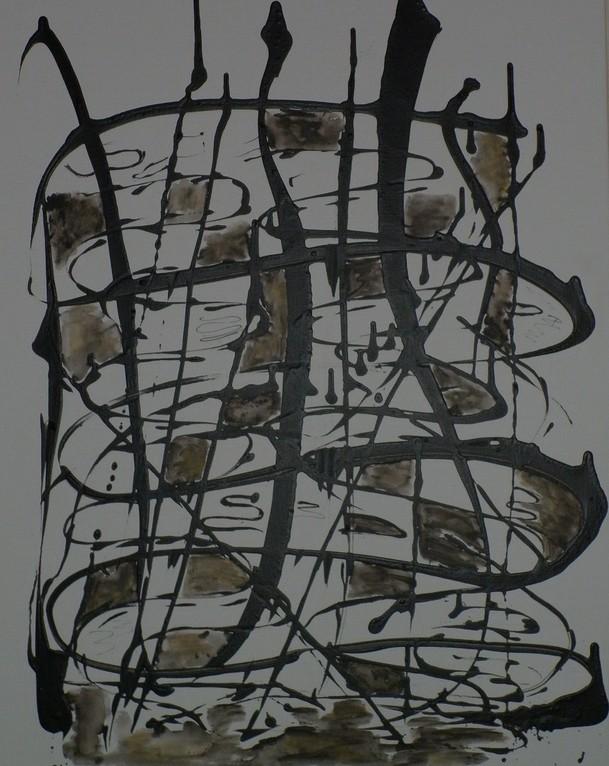 Bild Nr. 224 o.T. ©  Maß 80 x 100 Acryl/Leinwand auf Keilrahmen