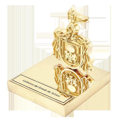 #moneda en metal Rex #chapa en oro, con #escultura, 8cm, base en solera, 3cm, #placa en #fotograbado cod. 54564