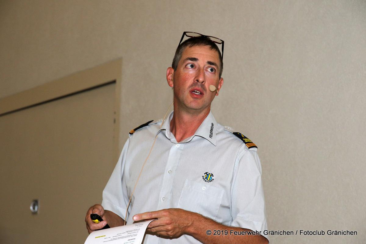 Ansprache des Kommandanten Thomas Wiederkehr