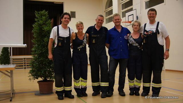 Die Befördeten: v.l.r. Simon Schnell, Brigitte Schär, Markus Herzog, Andy Stalder,                   Rita Frischknecht, Daniel Wehrli