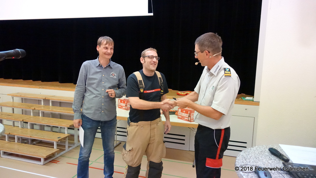 Mitte: Serge Richner befördert zum Oberleutnant