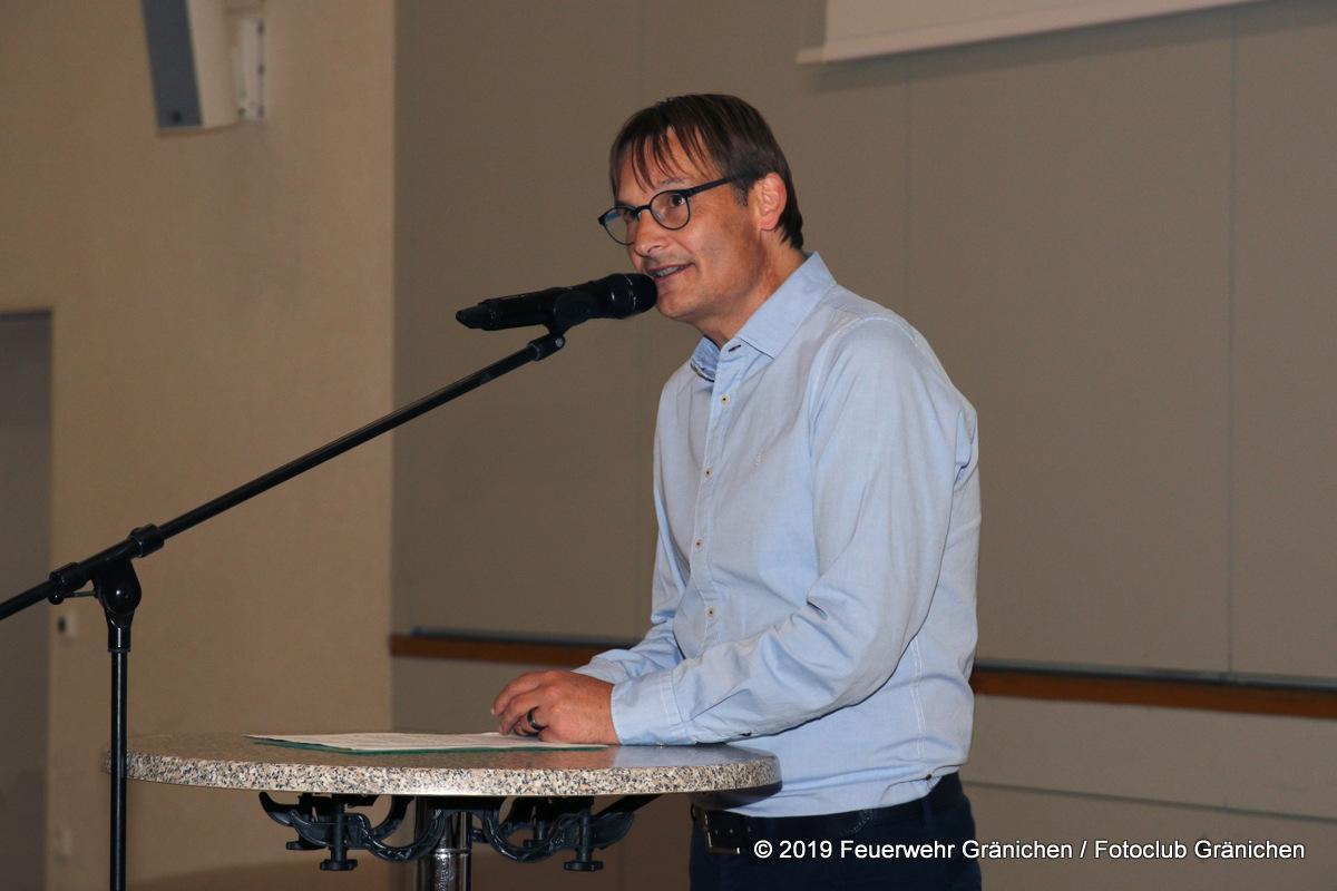 Ansprache des Resortchefs und Gemeinderat André Muhmenthaler