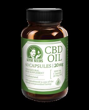 Huile de CBD 20 mg - 60 gélules - € 39,95