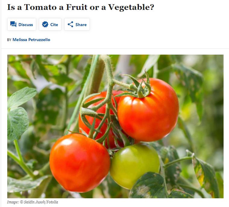 トマトは野菜か果物か?