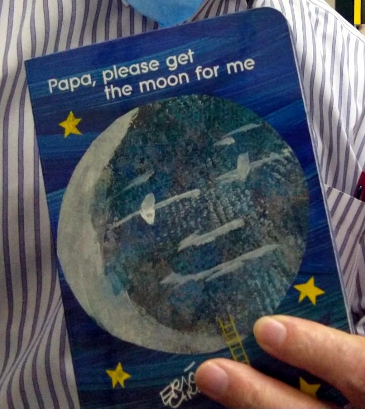 パパ、お月様とって!