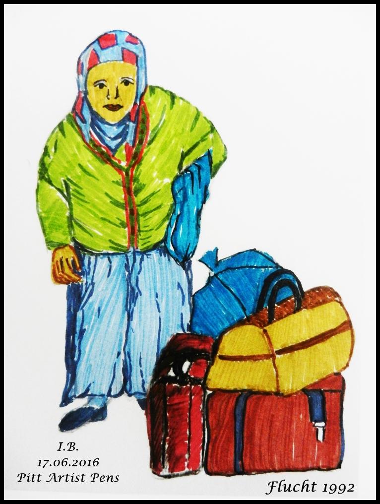 Flucht 1992 / In Bottrop leben zu diesem Zeitpunkt 350 Asylsuchende.