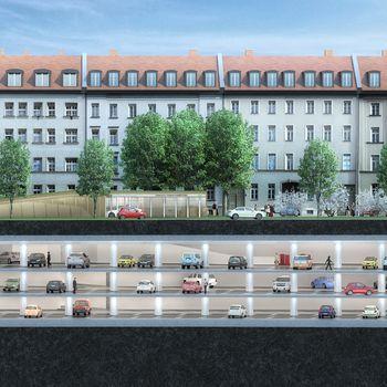 München, Luxus, Tiefgarage, Steidle Architekten