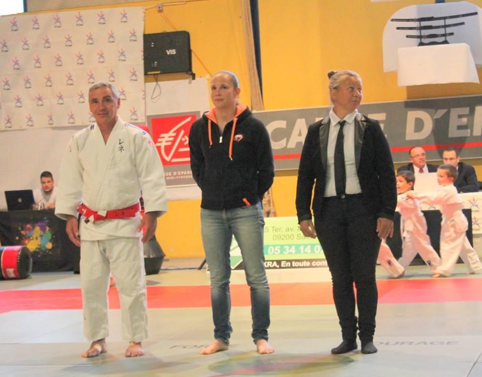 René MABIT aux côtés de Laurence COUSIN