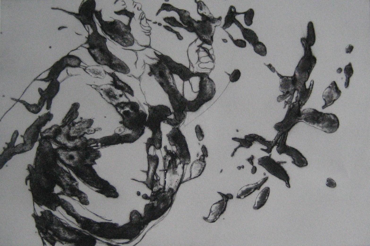 Misérables ! - Pointe sèche et carborundum sur zinc - 2012