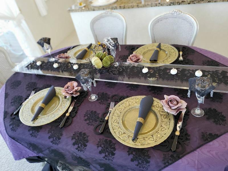 紫&黒&金をメインカラーにしてみました