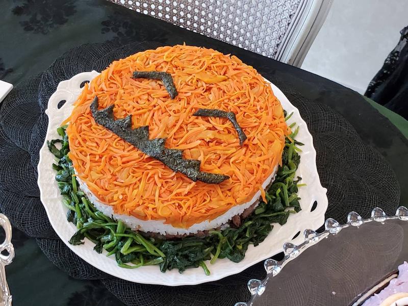 こちら↑はハロウィーン のケーキ寿司