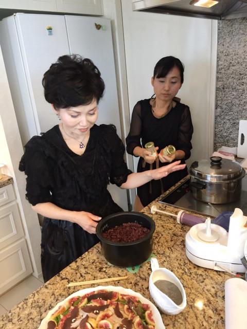 黒米を入れて炊いたご飯 炊く時はごま塩状態だったんです✨