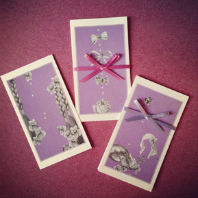 菫色のちいさなカード/3種各1枚入り・税込262yen
