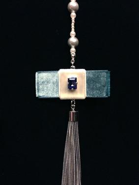 ノリッジのジュリアンに捧ぐ、アングリカン・ロザリオ・ブローチ Blue