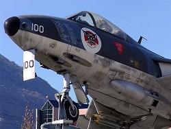 Hunter J-4100 Sion, escadrille aviation 5 (Fliegerstaffel 5) (Foto: Sven Woodtly)