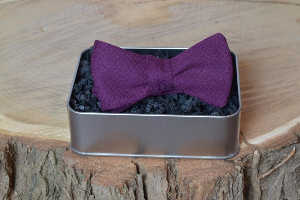Violette - Lila Herren Anzug Schleife zum selberbinden – Selbstbinder