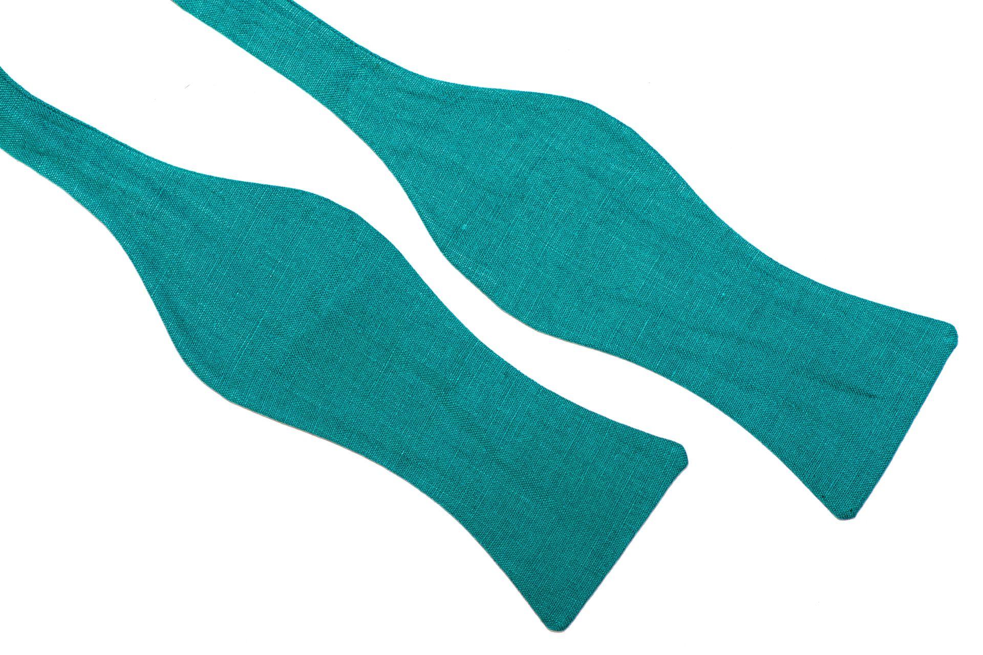 Herren Anzug Fliege türkis blau zum selbstbinden