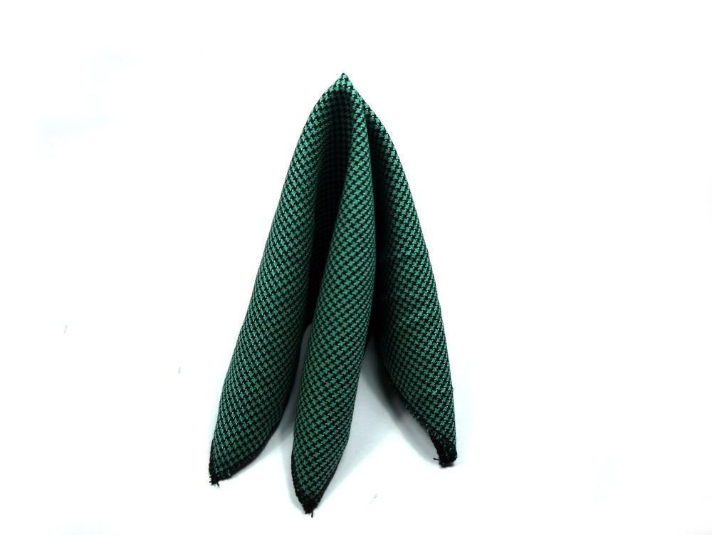Einstecktuch grün schwarz elegant