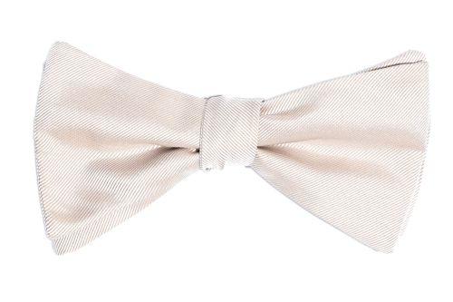 beige rosè farbene Fliege Hochzeitsfliege querbinder
