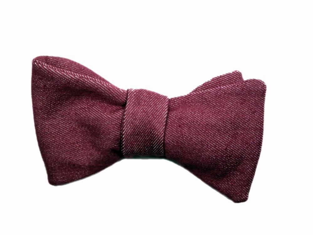 Herren Anzug Fliege in rot dunkel rose - jeansfliege - schleife