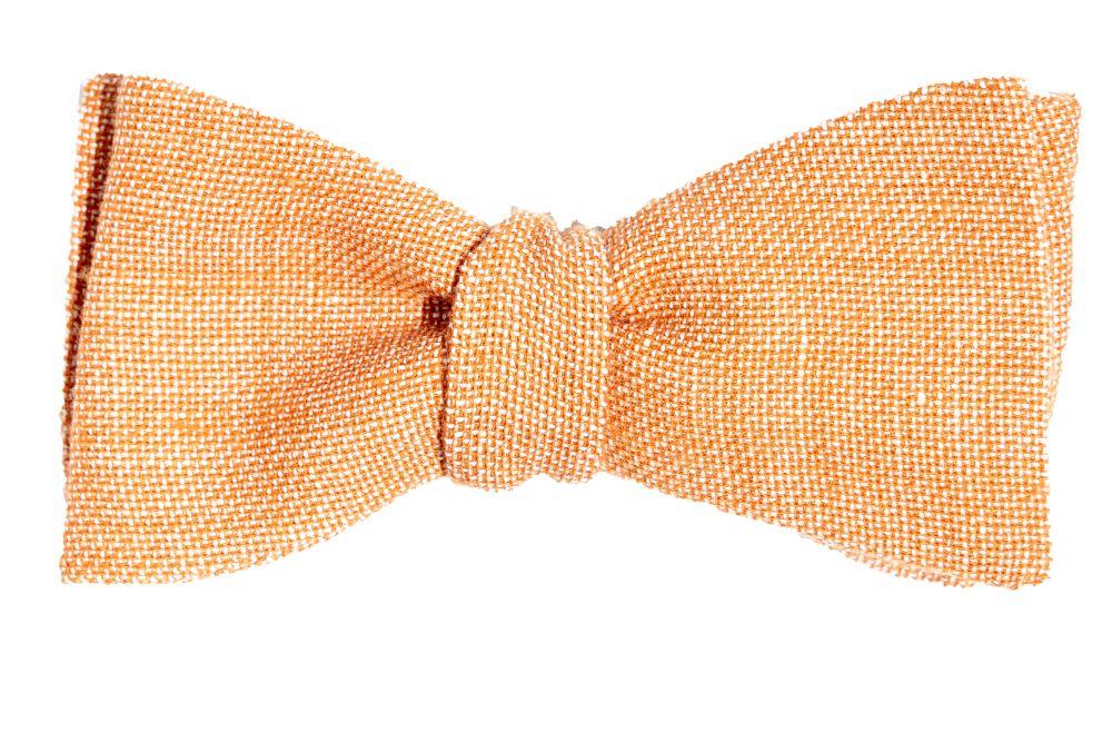 orangene fliege leinen querbinder