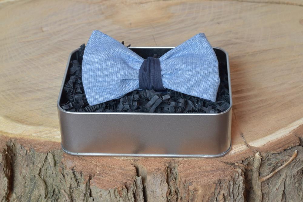 Herren Anzug Schleife hellblau dunkelblau zum selberbinden – Selbstbinder