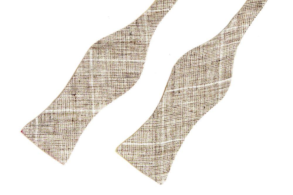 Fliege beige braun querbinder muster