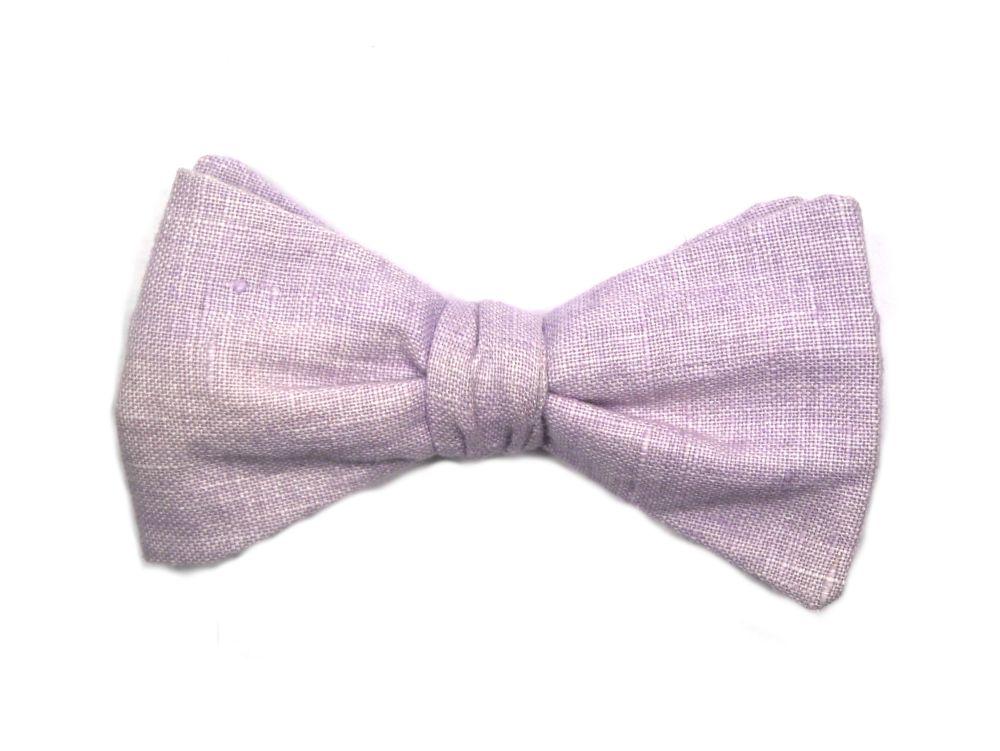 Herren Anzug Schleife lila zum selberbinden – Querbinder