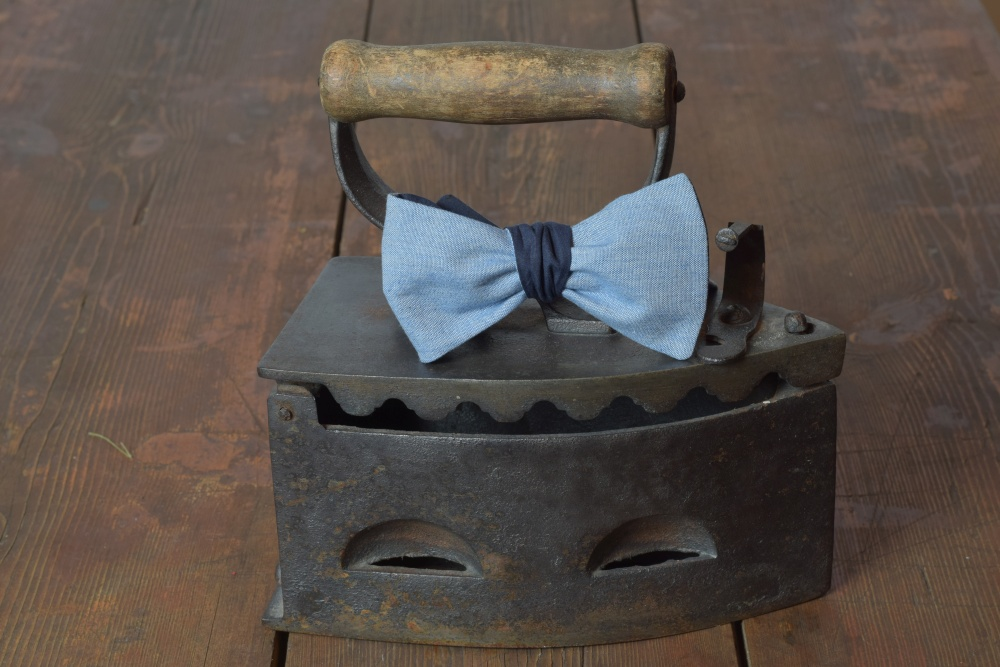Herren Anzug Schleife blau zum selberbinden – Selbstbinder