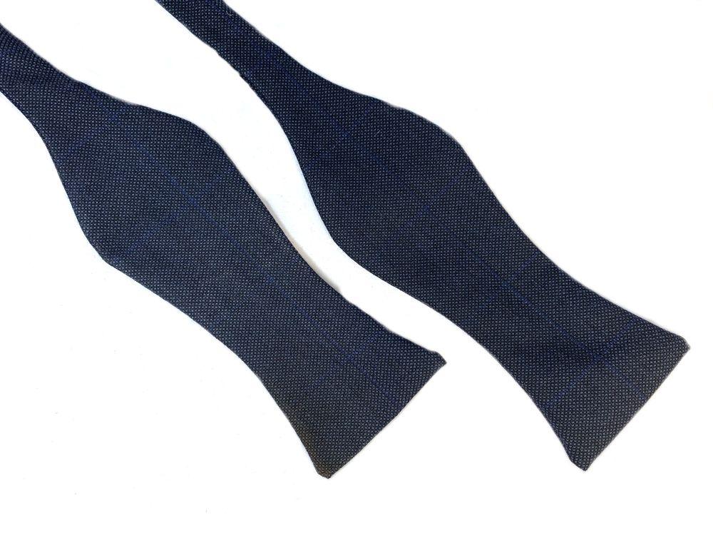 Herren Fliege Querbinder blau mit Muster