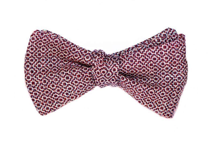 Rote - blaue - weiße Musterung - Herren Anzug Fliege zum selberbinden – Selbstbinder