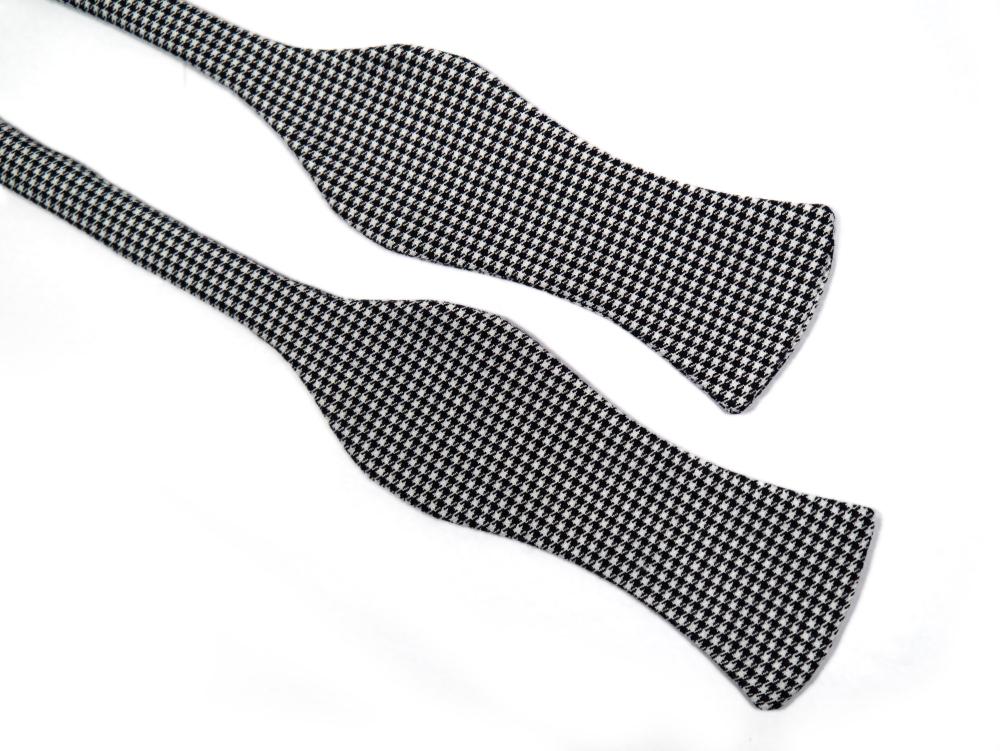 Herren Anzug Fliege in schwarz weiß kariert - winterfliege - schleife