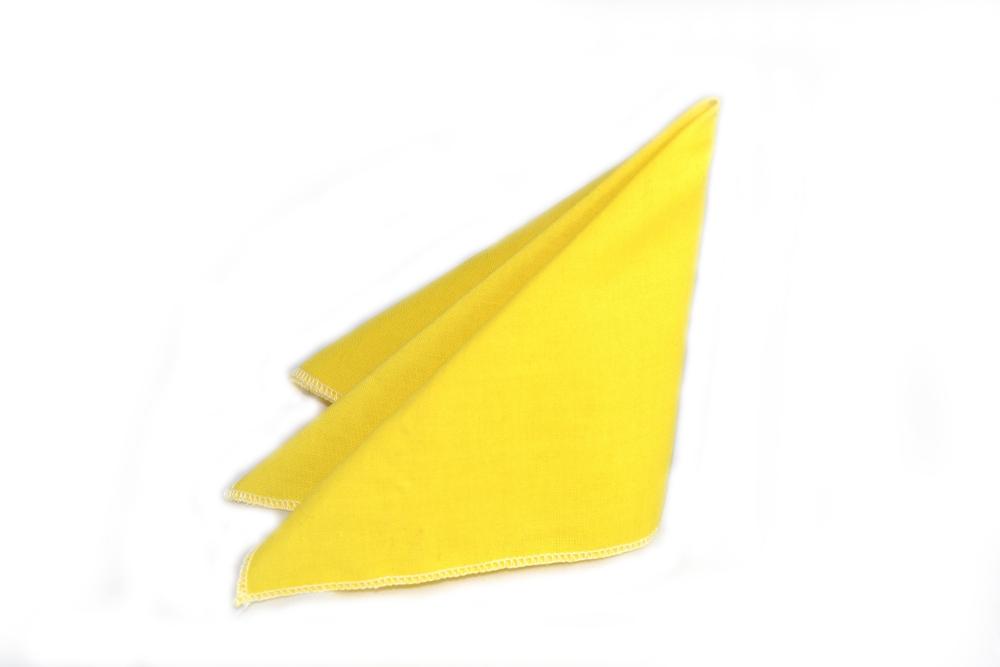 gelbes einstecktuch
