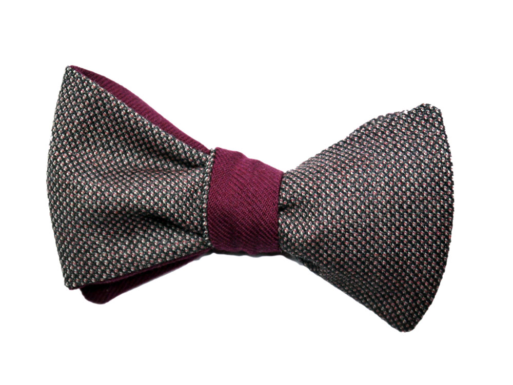 Rote - Weinrote Herren Anzug Schleife mit Musterung zum selberbinden – Selbstbinder