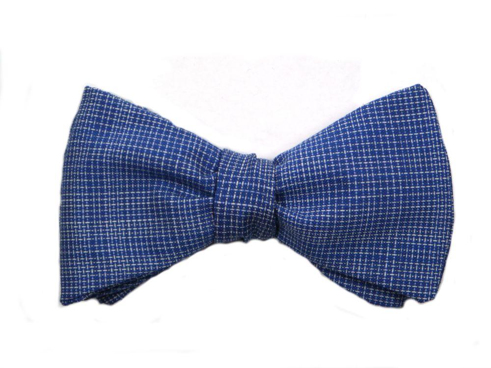 Herren Anzug Fliege blau weiß kariert zum selberbinden – Selbstbinder