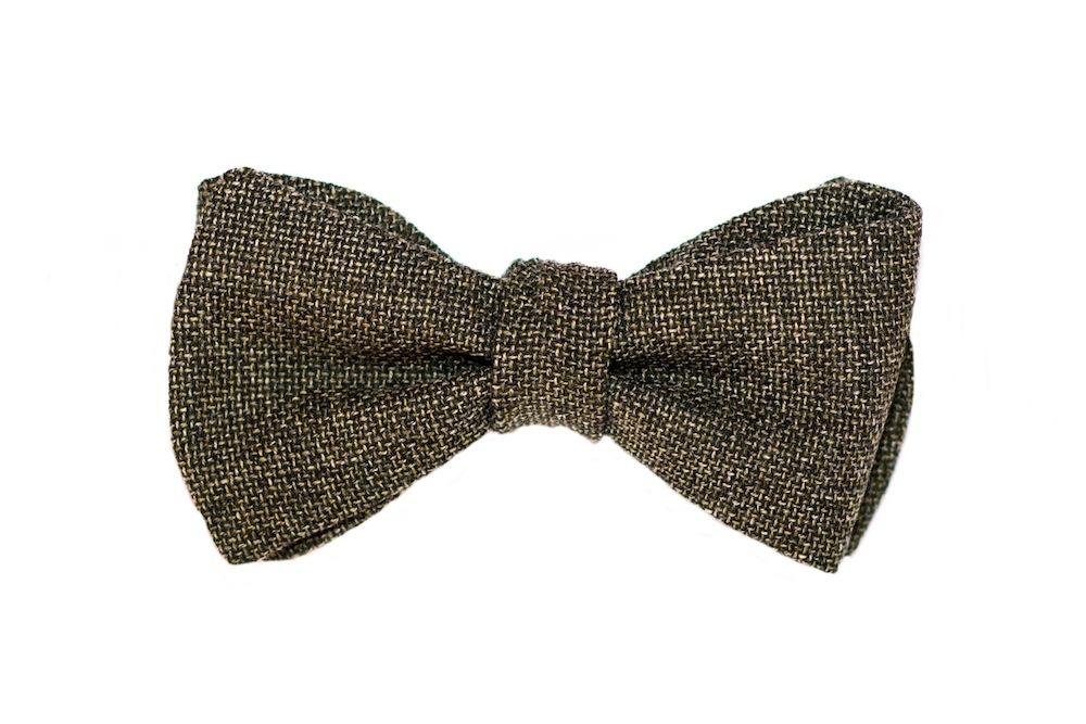 Herren Anzug Fliege grau gemustert zum selberbinden – Selbstbinder