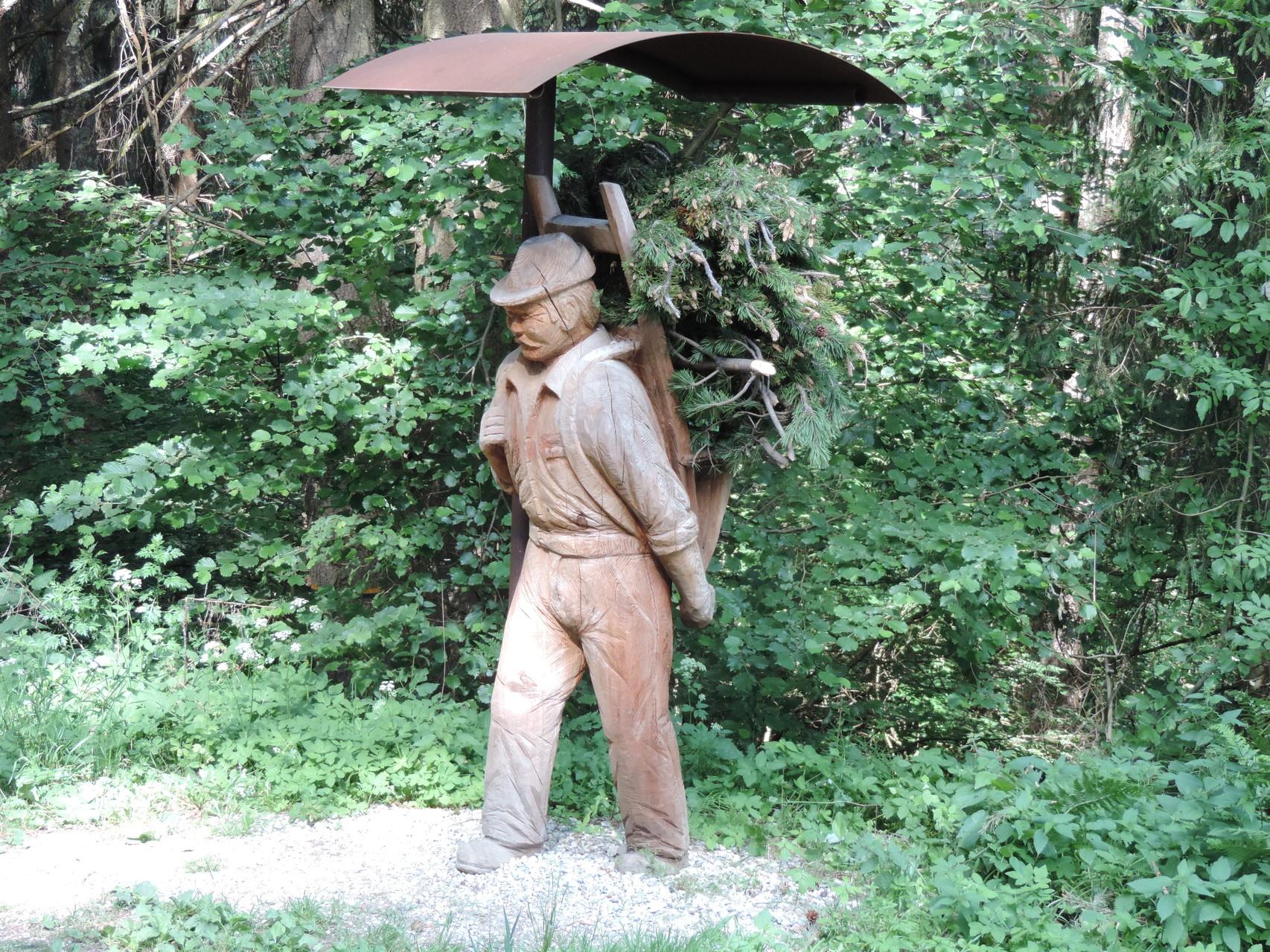 Denkmal für den Gründer der Brennerei
