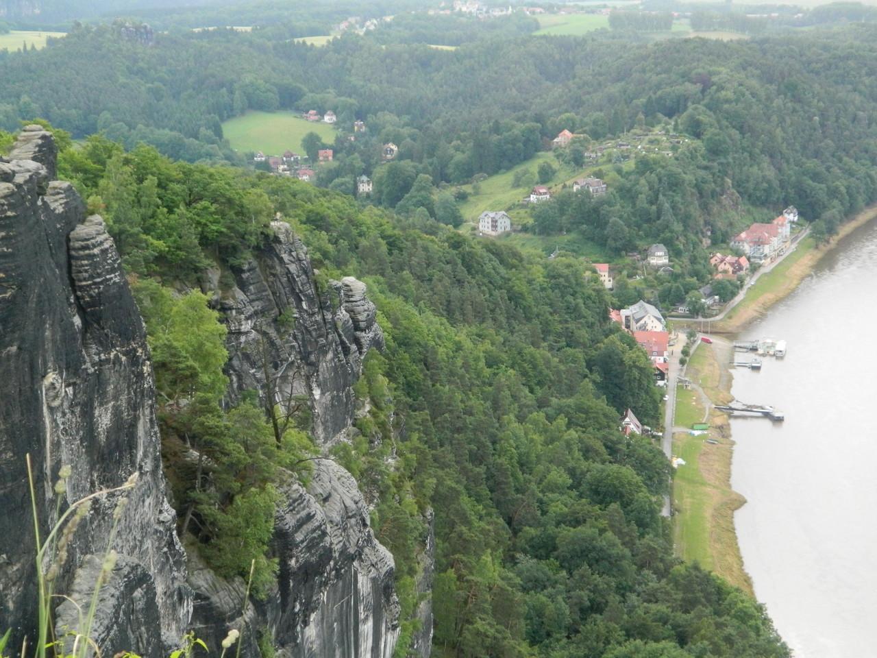 Blick von der Bastei auf die Elbe