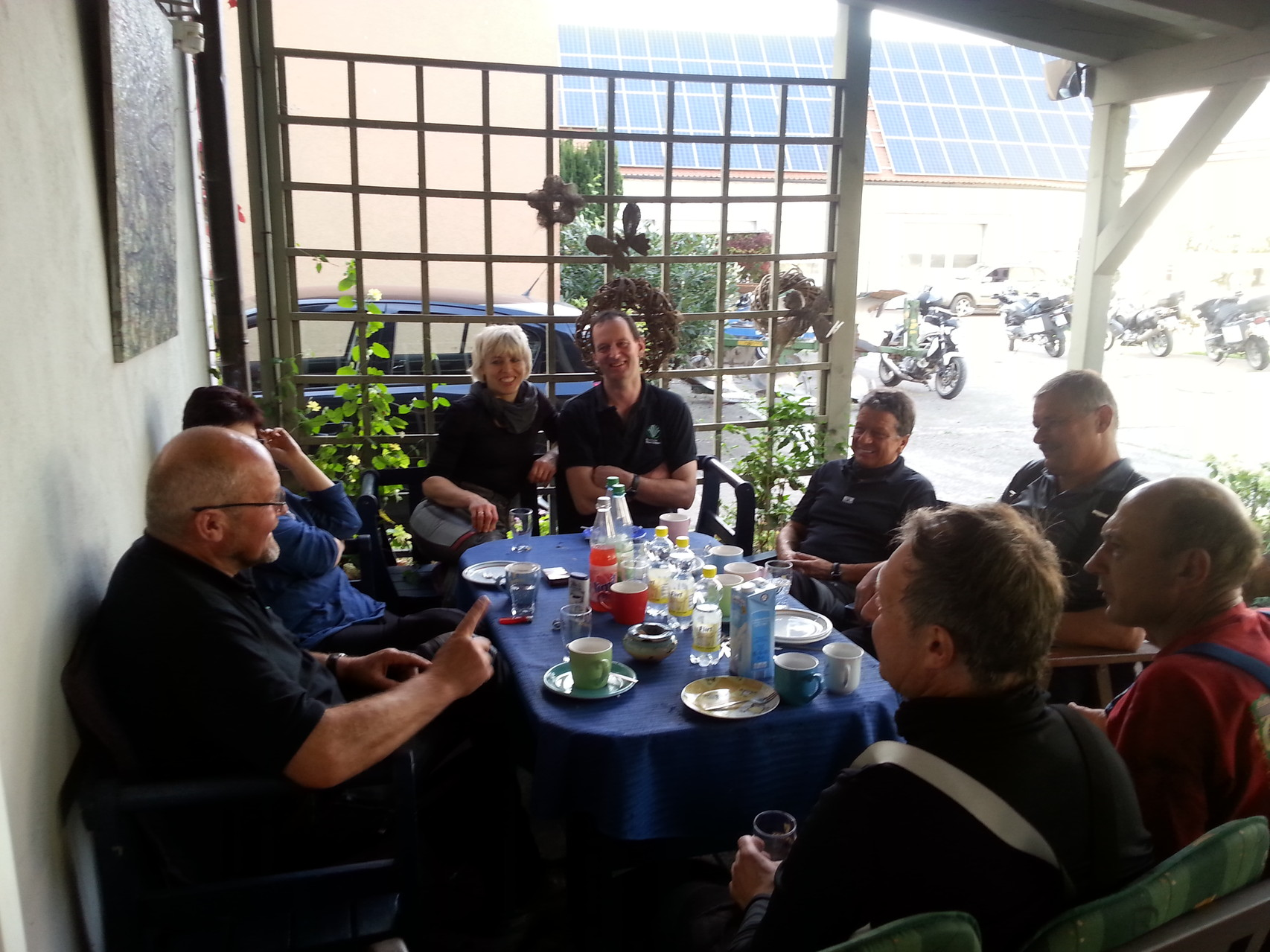 Kaffeepause in Oberlaimbach