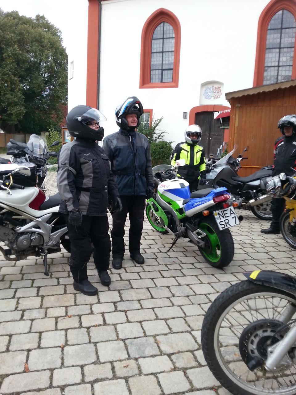 Vor der Abfahrt in Markt Nodheim