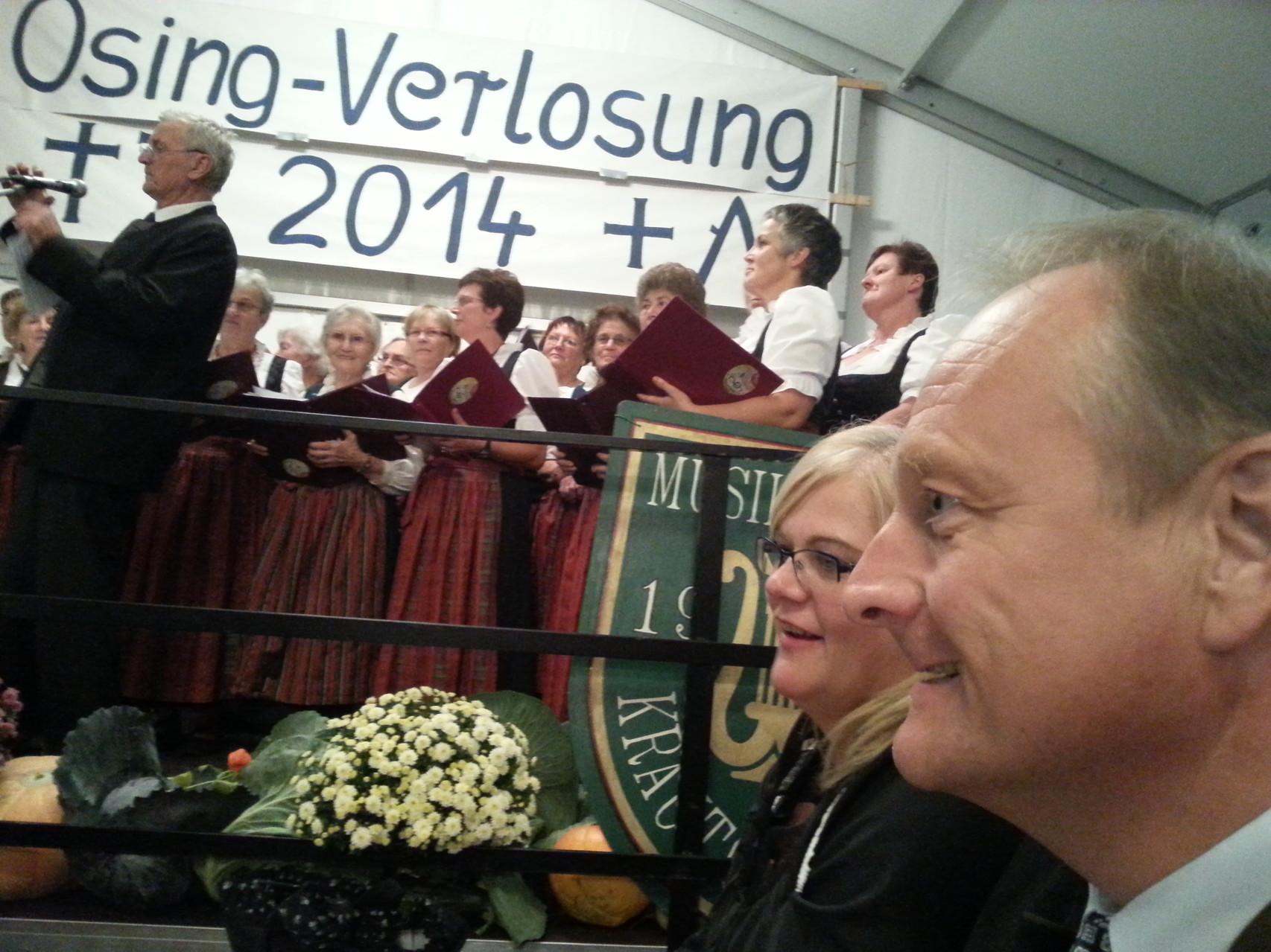 Unser Hauptreferent DBV Präsident Joachim Rukwied mit unserem OB-Chor