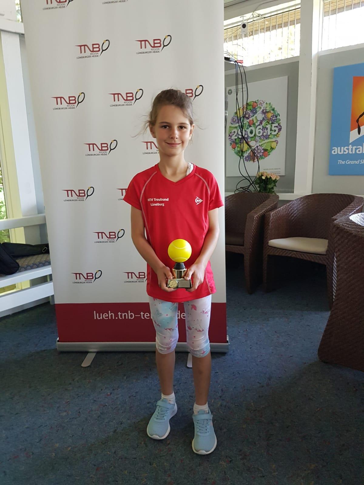 Anna Luther- 1.Platz Midcourt Mädchen