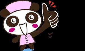 チェックするパンダ