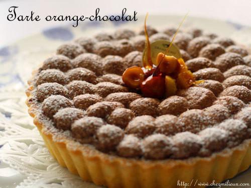 オレンジとチョコレートのタルト