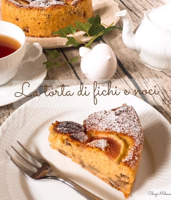 オリーブオイルでつくるイチジクのケーキのレシピ
