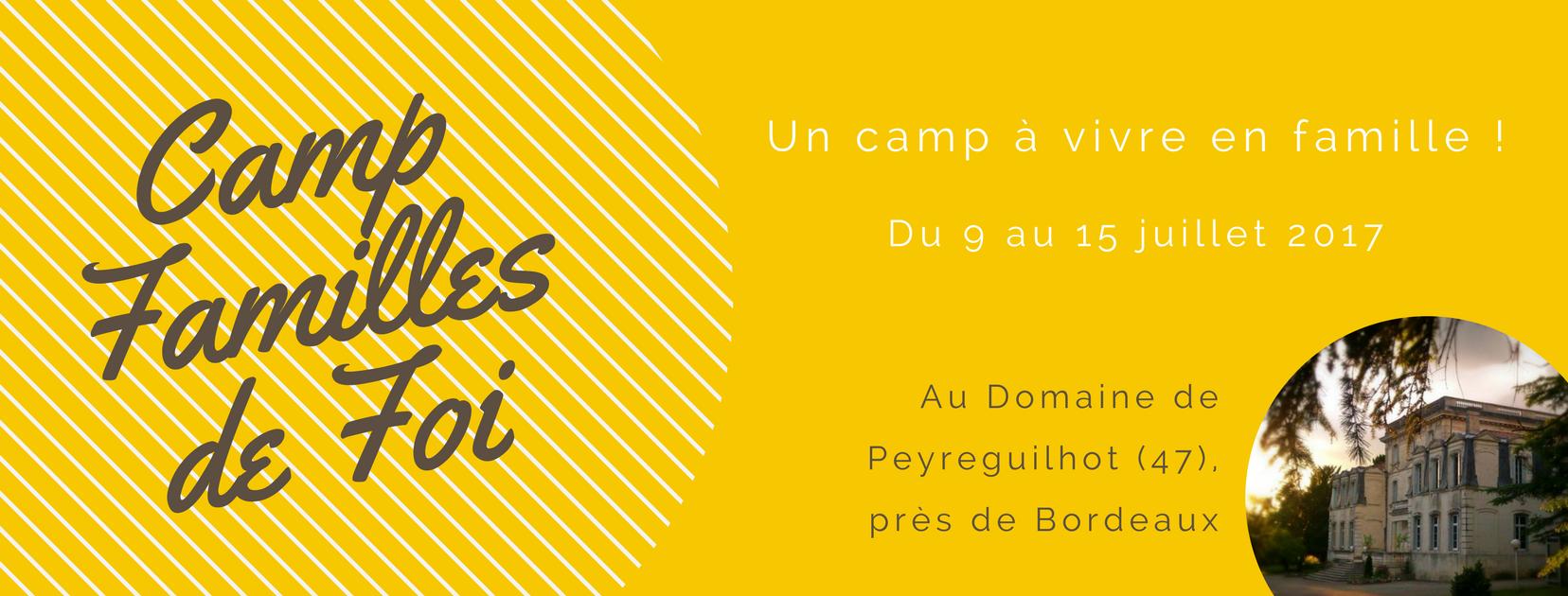 bannière Camp Familles de Foi 2017